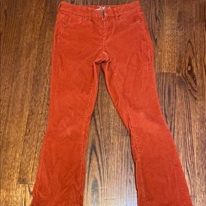 Red 80s themed pants